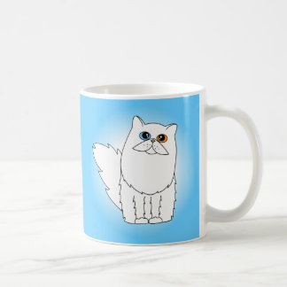 White Persian Cat w/ Odd Eyes Coffee Mug