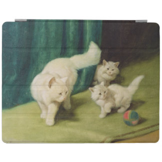 White Persian Cat with Two Kittens iPad Cover