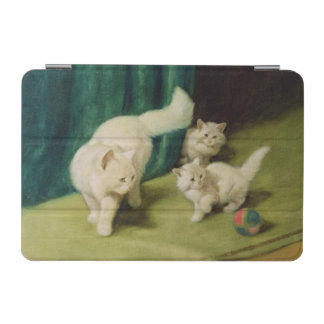 White Persian Cat with Two Kittens iPad Mini Cover