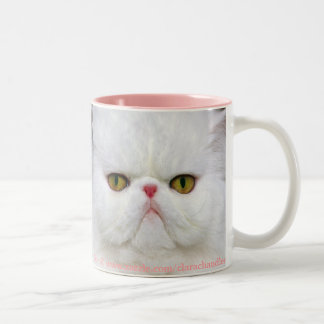 White Persian Mug