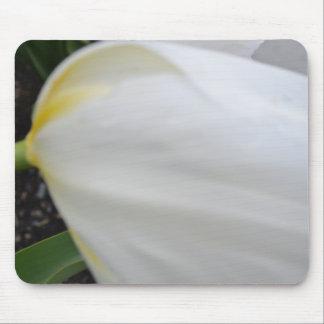 White Petal Mouse Pad