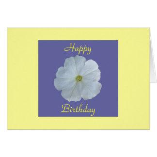 White Petunia Card
