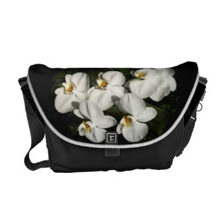White phalaenopsis orchids commuter bag