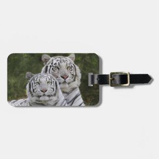 White phase, Bengal Tiger, Tigris Luggage Tag