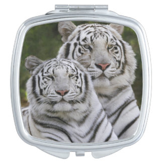 White phase, Bengal Tiger, Tigris Makeup Mirrors