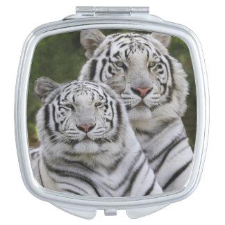 White phase, Bengal Tiger, Tigris Makeup Mirrors