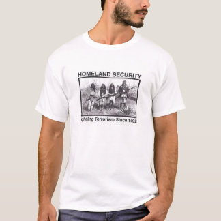 White Photo Indian Homeland Security T-Shirt