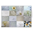 White photography collage card