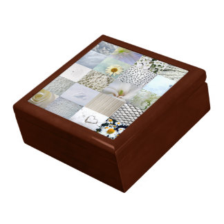 White photography collage gift box