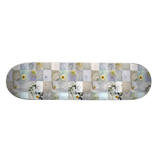 White photography collage skateboard