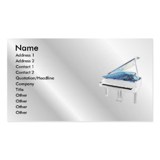 White Piano Profile Card Business Card Templates