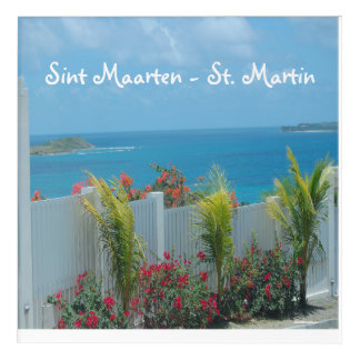 White Picket Fence in Sint Maarten Acrylic Wall Art