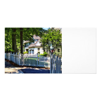 White Picket Fence Personalised Photo Card