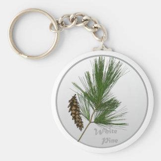 White Pine Tree Key Ring