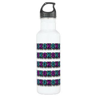White, Pink and Blue XOXO Designer 710 Ml Water Bottle