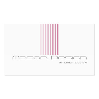 White, Pink and Grey Modern - Business Card