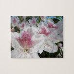 White Pink Azalea Flower Garden puzzle Holidays