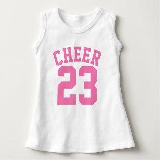 White & Pink Baby   Sports Jersey Design Dress