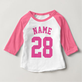 White & Pink Baby | Sports Jersey Design Shirt