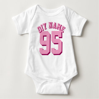 White & Pink Baby | Sports Jersey Design T Shirts
