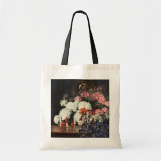 White Pink Blue Bouquet Oriental Statues Artwork Tote Bag