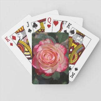 White Pink Rose Flower Floral Plant Nature Pretty Poker Deck