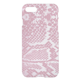 White Pink Snake Skin iPhone Clearly™ iPhone 7 Case