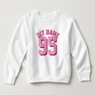 White & Pink Toddler | Sports Jersey Design Sweatshirt