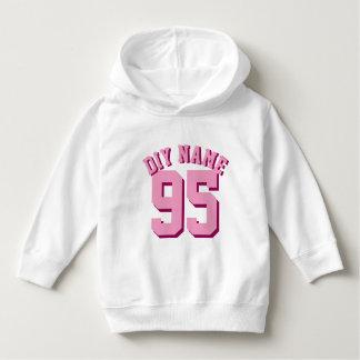 White & Pink Toddler   Sports Jersey Design Tees