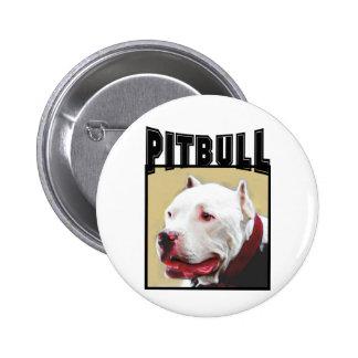 White Pitbull Button