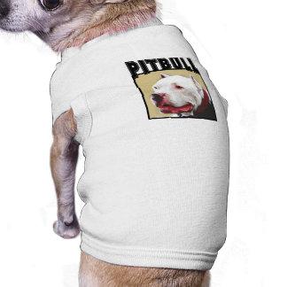 White Pitbull Dog Shirt