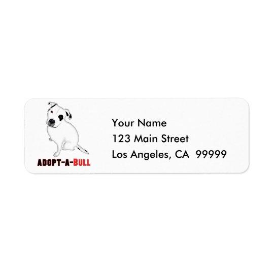 White Pitbull Puppy ADOPT-A-BULL