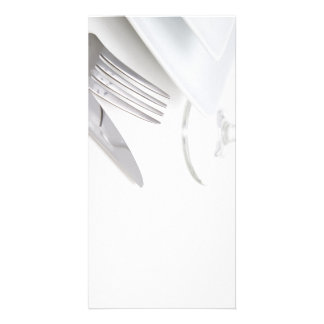 White place setting photo card