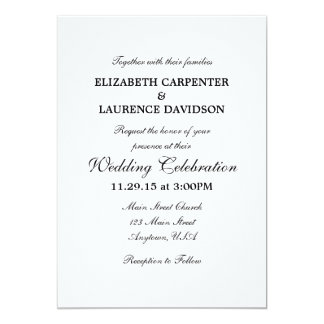 white_plain_simple_wedding_invitation r231f81ae56ed42ac88e1fce2e63877ec_zkrqs_324?rlvnet=1 plain white invitations & announcements zazzle co uk,Plain White Invitations
