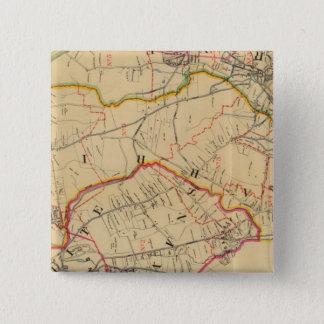 White Plains, Harrison, Rye, New York 15 Cm Square Badge