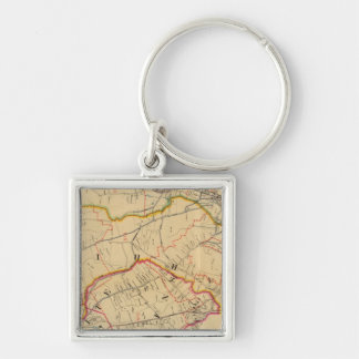 White Plains, Harrison, Rye, New York Key Ring