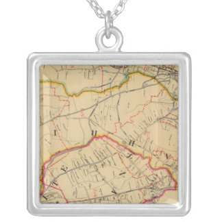 White Plains, Harrison, Rye, New York Silver Plated Necklace