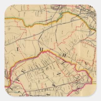 White Plains, Harrison, Rye, New York Square Sticker