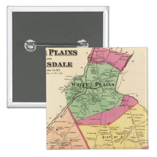 White Plains, Scarsdale towns 15 Cm Square Badge