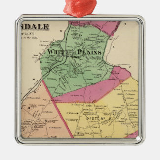 White Plains, Scarsdale towns Christmas Ornament