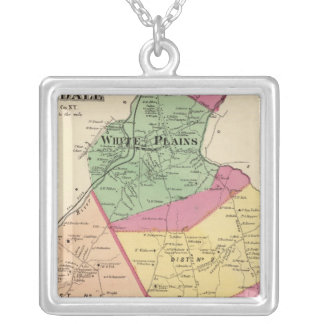 White Plains, Scarsdale towns Silver Plated Necklace