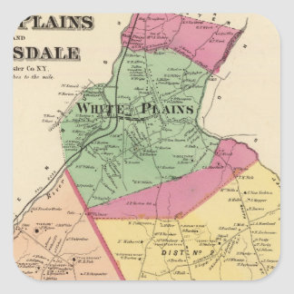 White Plains, Scarsdale towns Square Sticker
