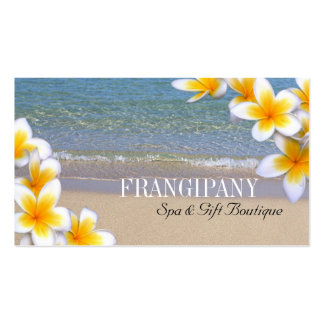 White Plumeria Beach Spa Resort Boutique B&B Pack Of Standard Business Cards