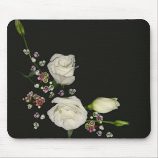 White poem 4 mouse pad
