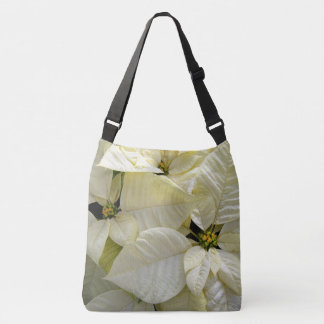 White Poinsettias Crossbody Bag
