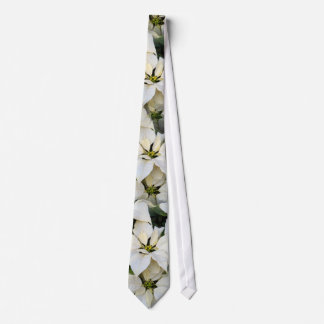 White Poinsettias Wedding Tie