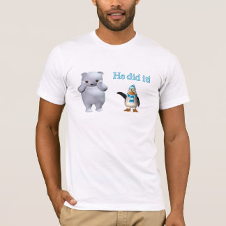 White Polar Bear and Bad Penguin T-Shirt
