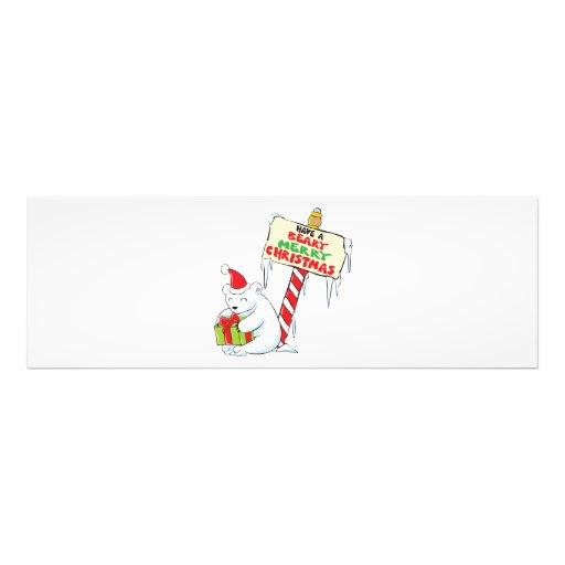 White Polar Bear Christmas North Pole Custom Bags Photo Print