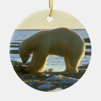 White Polar Bear Christmas Ornament