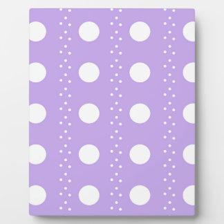 White Polka dot on Purple Plaque
